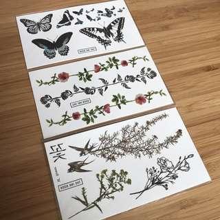 Artistic temp tattoos