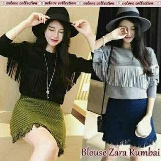 Zara blouse rumbai