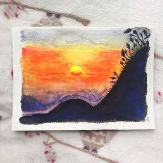 [READYMADE] Sunset watercolour painting