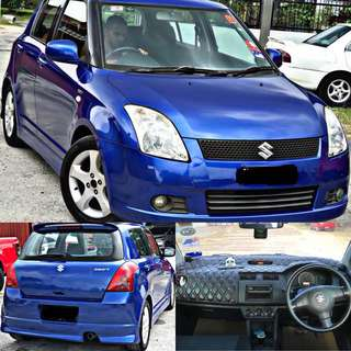 SAMBUNG BAYAR / CONTINUE LOAN  SUZUKI SWIFT 1.5 AUTO  TIPTOP CONDITION  FREE EXCIDENT