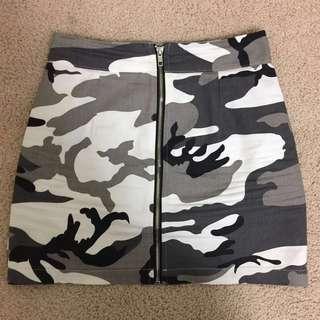 Grey Camo skirt