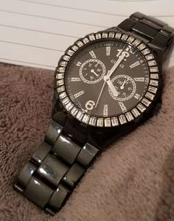 Black Steel Guess Watch