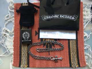 [Full Set] Chrome Hearts Cross Pendant with Paper Chain Necklace 14.5'
