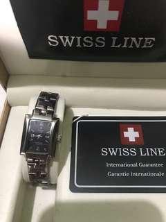 Swiss Line silver watch