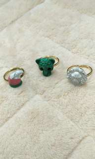 3pcs Colourful Animal Ring