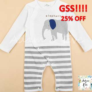 GSS ⭐️Baby Fashion⭐️ Baby Onesie A12 –Elephant Onesie $11.90 (NOW$9)