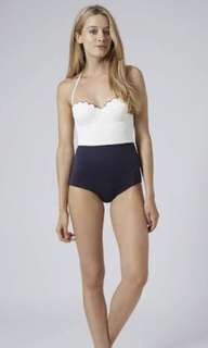 Topshop Scalloped One-Piece Swimsuit