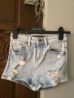 LEE Pipes High waist denim shorts
