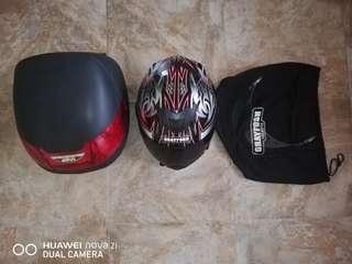 Box and helmet