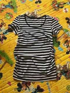H&M Maternity Strips Top Size S