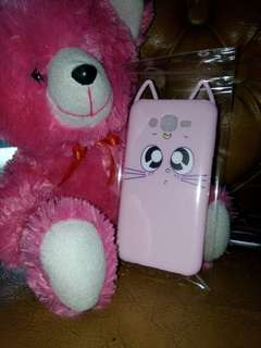 J7 2015 Case Kucing Pink