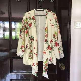 Oriental print kimono