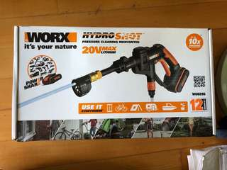 Worx chargeable pressure cleaner 手提充電高壓洗車機