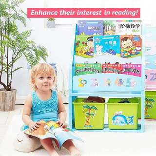 Children story book rack and organizer