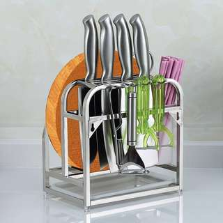 Kitchen chopping board and Knife Holder
