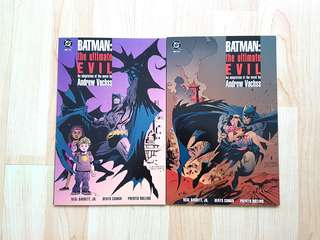 DC Comics Batman The Ultimate Evil Complete 2 Issue Mini-Series Near Mint Condition Prestige Format