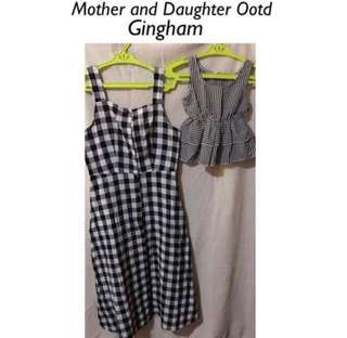 Mother & Daughter Gingham Outfit✨