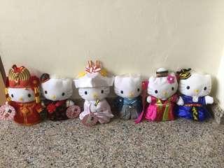MacDonald Wedding Couple Hello Kitty Figurines 5 sets