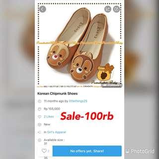 Sale-Korean Chipmunk shoes