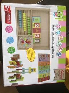 Wooden toy number shape letter picture