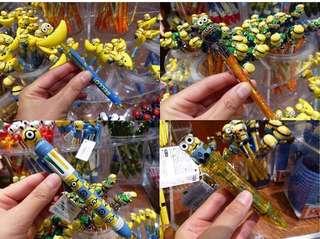 USJ MINION 連線代購 發光原子筆款 香蕉筆 地球筆 $85/1 8色筆 $105 發光筆 $140