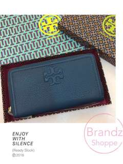 💥RAYA SALE! 💯% Authentic Tory Burch The Multi Gusset Zip Continental Long Wallet @ 2 Colors (Royal Blue / Black) >> Ready Stock!