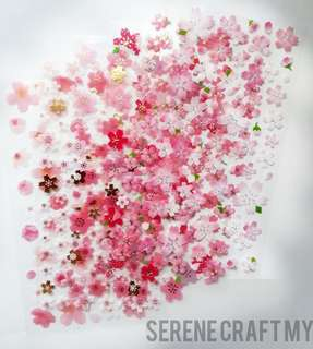 Set of 6sheets Romantic Sakura Cherry Blossom Sticker