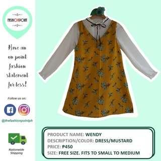 Mustard Korean Style Dress