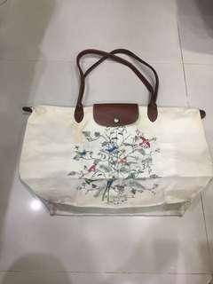 🚚 【Longchamp】正版二手longchamp水餃包 L號 白