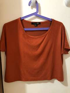 F21 Cropped Top Orang