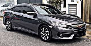 SAMBUNG BAYAR /CONTINUE LOAN  HONDA CIVIC FC 1.8  PATROL AUTO YEAR 2017