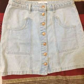Stradivarius Mini Skirt Light Blue