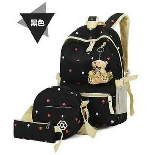 3in1 BAGPACK SET WITH TEDDY BEAR