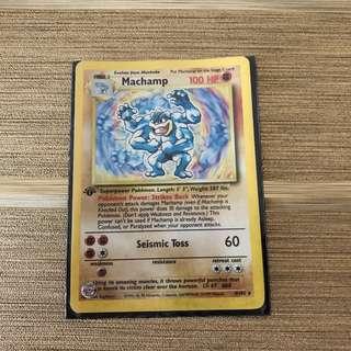 *MINT* 1st Edition Machamp Holo Base Set Card 8/102