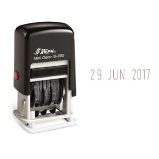 Brand New SHINY S300 (Self-Inking Mini Dater Stamp)