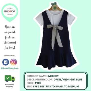 Cute Korean Style Dress (Midnight Blue)