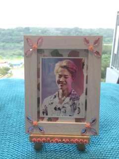 Handmade Jimin photo frame + easel + mystery pack of freebies