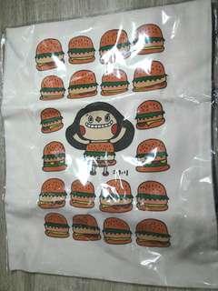 大漢堡手繪畫家手提包