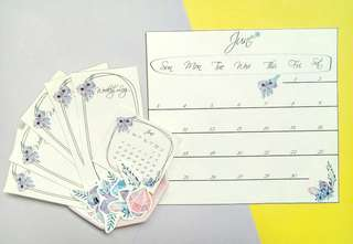 June Bullet Journal Gem Stickers