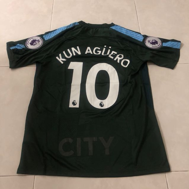 be5ee3f8ab954 17/18 season man city 3rd kit jersey m size aguero, sports, sports