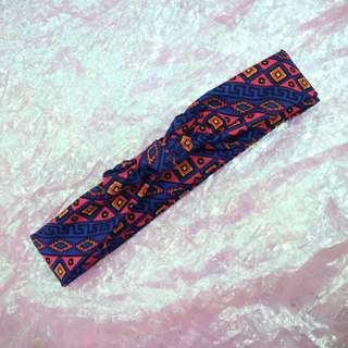 幾何髮帶中性頭巾