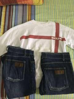 Jaket dan Celana Jeans