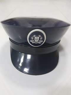 Vintage 3D Police Peak Cap Prop Display