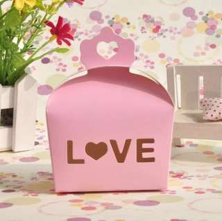 24 pieces Wedding Door Gift Party Favors Paper Box - LOVE