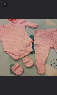 Newborn Mothercare Suits set