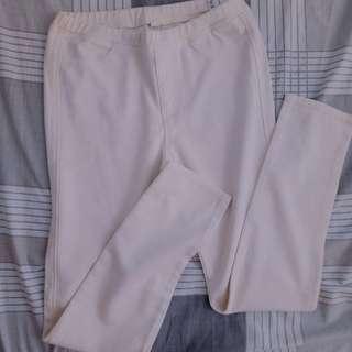 Uniqlo White Jeggings