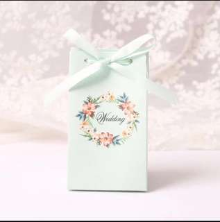 10 Pieces Pastel Floral Theme Door Gift Favors Bag