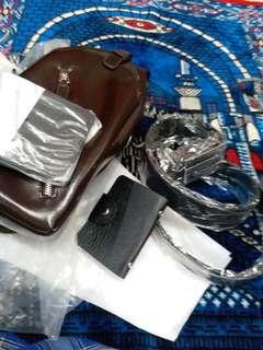 Beg sandand.tali pingang.wallet.cad name beg