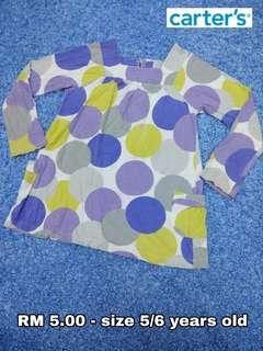 5/6 years old - Kids Cloth Shirt Dress Baby Girl Boy