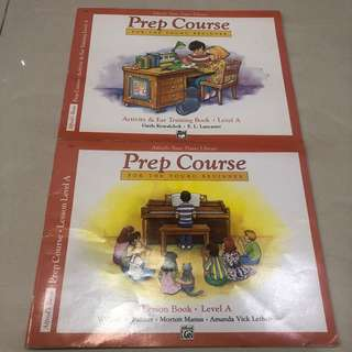 Buku piano - prep course - for young beginner level A - Alfred Basic